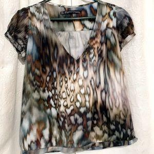 Zara water color print blouse